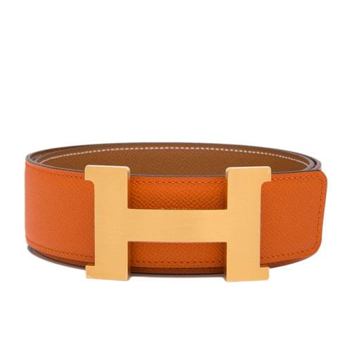 Replica Hermes 42mm Reversible Orange belts