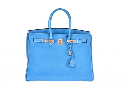 knock off Hermes Birkin Bag 35cm Blue Jean Palladium hardware