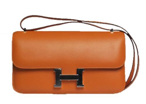 Hermes Orange Constance Elan Bag