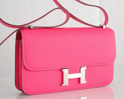Hermes Rose Tyrien Constance Elan Bag fake