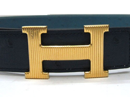 Replica Hermes Shiny Golden H Buckle Belt