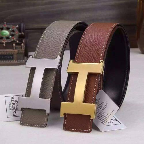 Replica Hermes Constance reversible Belt 42mm in Epsom Leather