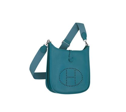 hermes Evelyne handbags Galician blue