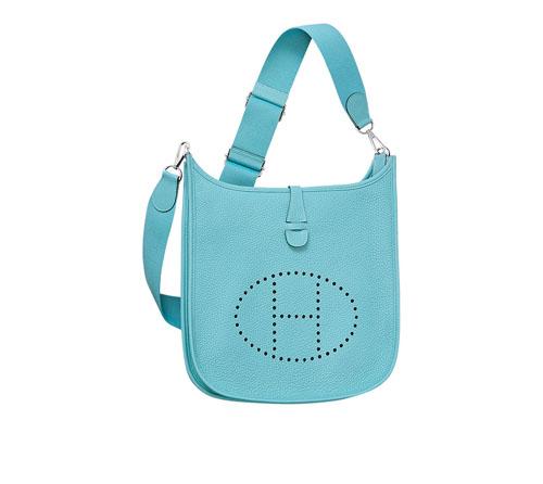 hermes Evelyne handbags Saint-Cyr blue