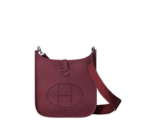 hermes Evelyne handbags bordeaux